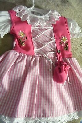 Baby Girls,Kids SZ ~ 6 mo,German,Trachten,Oktoberfest,Dirndl Dress,2-pc.Pinks