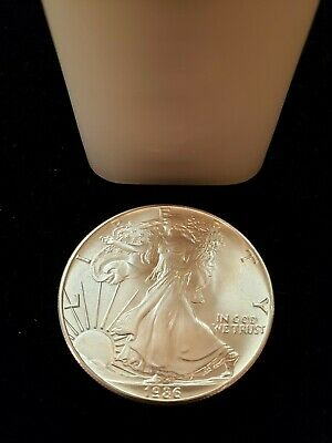 1986 20 Coin Roll American Silver Eagles **first Year Of Issue!!**