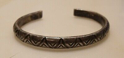 Antique Navajo Indian Trade Sterling Silver 26.8g hallmarked/dated Cuff Bracelet