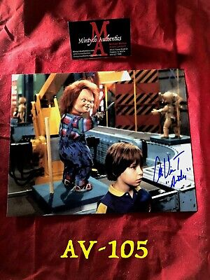 ALEX VINCENT AUTO SIGNED 8x10 PHOTO! CHILD'S PLAY! COA! CULT OF CHUCKY! ANDY!