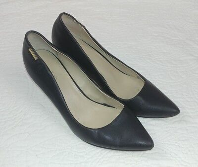 0b5ff95fabc2 Calvin Klein Womens Kimberly Black Classic Pumps Heels Shoes 9491 size 9