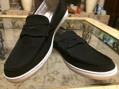 c1c7fb706a5 Cole Haan Grand OS Pinch Maine Classic Penny Loafers Shoes Black Canvas 9.5  M