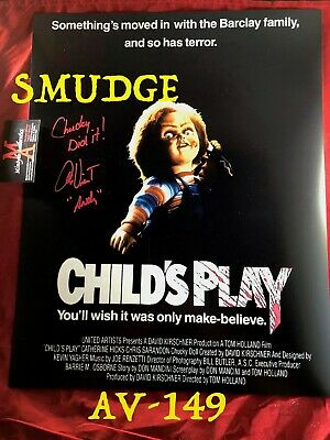 ALEX VINCENT AUTO SIGNED 16x20 PHOTO! CHILD'S PLAY! COA! CULT OF CHUCKY! ANDY!
