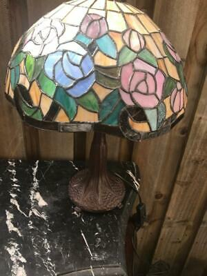 New Art Deco Tiffany Style  Leadlight Table Lamp . One Of Two Available