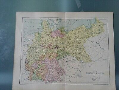 Antique Map Of The German Empire By George Philip 1890 -1910