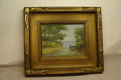 Listed MAINE Artist Frank Louville Bowie (1857-1936) OIL ON BOARD ANTIQUE SIGNED