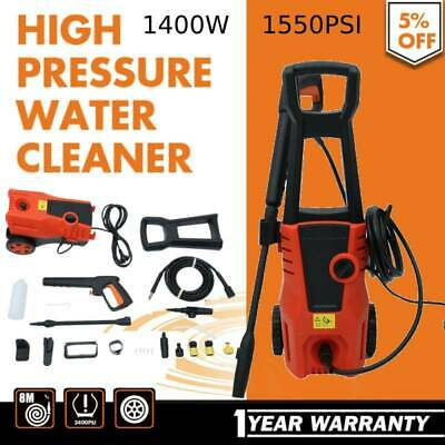 NEW High Pressure Water Cleaner Washer 1550PSI Electric Pump Hose Gurney 1400W