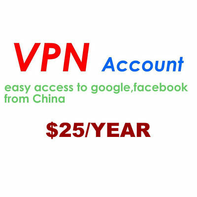 VPN ACCOUNT for Easy Access to Google Whatsapp FB Youtube INS TT Line from China