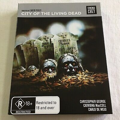 City Of The Living Dead (1980) - Cinema Cult Slipcase Blu-Ray Region Free | Rare