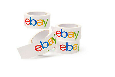 """4 Rolls of eBay Branded Packaging Tape 2"""" x 75 yards Classic Official Pack DEAL"""