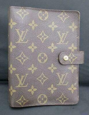 LOUIS VUITTON LV Monogram Agenda MM Day Planner Notebook Cover Case R20105
