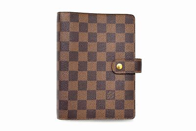 Louis Vuitton Damier Agenda MM R20701 Notebook Cover Case Monogram Used