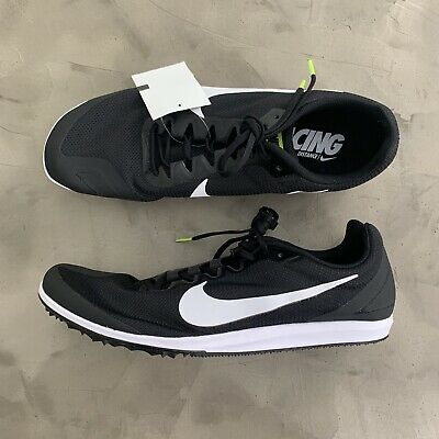 separation shoes 3ddee 3d1c6 Nike Zoom Rival D 10 Track Spikes Distance Shoes Men Size 12 Black