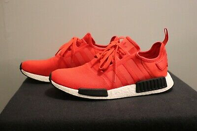 c7a71112fec15 ADIDAS NMD R1 White Red Black BB9572 NEW WITH BOX 100% Authentic ...