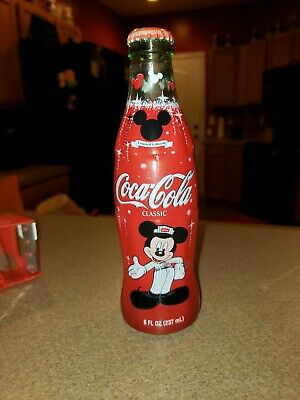 75th Anniversary Mickey Mouse CocaCola Glass bottle collectables