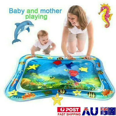 Inflatable Water Play Mat Fun Tummy Time Kids Baby Play Activity Center EG