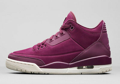 3afee6099bce 2018 WMNS Nike Air Jordan 3 Retro SE SZ 9 Bordeaux Purple Sail AH7859-600