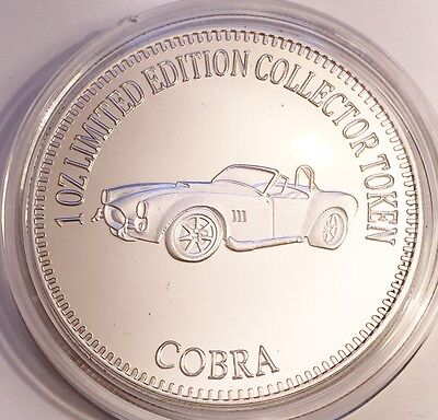 "NEW 2016 ""COBRA"" M/Car Series 2 1 0z HSE 999 Fine Silver Coin/token LTD 2,500"