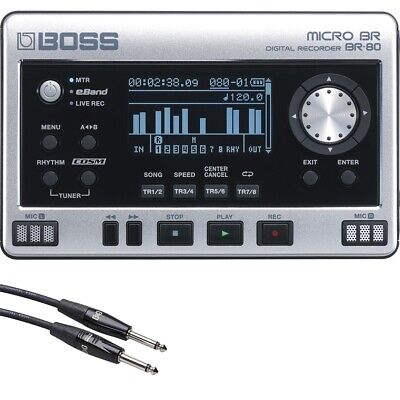 BOSS Micro BR BR-80 Digital Recorder Audio Interface + Free 20' Instrument Cable