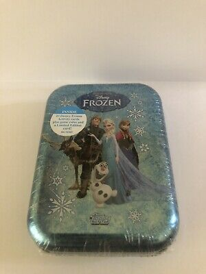 Topps Disney Frozen Activity & Trading Card Tin - Includes 24 Cards