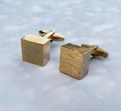 Vintage Sara Coventry Goldtone Cubic Cufflinks