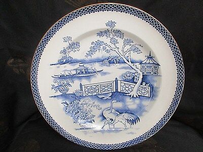 Early Victorian Blue & White Plate  1850,s,willow Pattern.clyde T.till,oriental