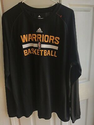 59dda31189ef Men s Adidas climalite Golden State Warriors Black Long sleeve Shirt Size XL