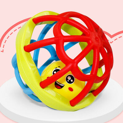 Safety soft rubber baby hand bell toy ball development smart hand ball