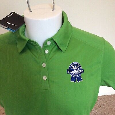 32916c4a NWT nike golf Dri-fit womens golf polo shirt size Large pabst blue ribbon  beer