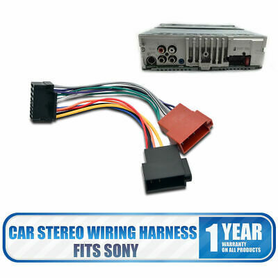 sony car stereo harness sony 16 pins car stereo radio iso adaptor wiring lead harness sony car radio harness sony 16 pins car stereo radio iso