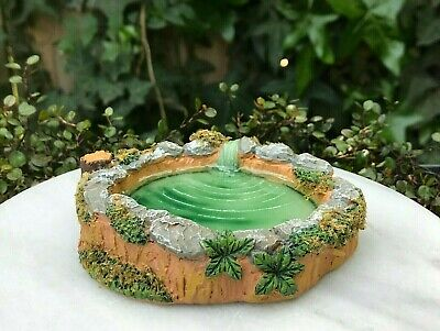 Miniature Dollhouse FAIRY GARDEN Accessories ~ Mini Pond with Faux Rocks & Moss