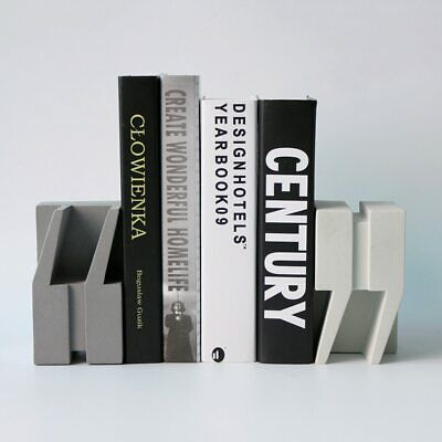 Creative double quotation marks concrete bookends silicone mold study home