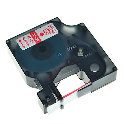 D1 45015 Red on White Label Tape Compatible With DYMO LabelManager 120P Printer