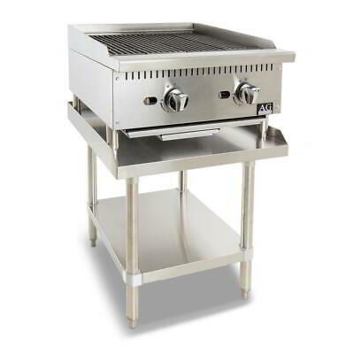 Two Burner Commercial Chargrill with lava rock - 610MM width - Natural Gas
