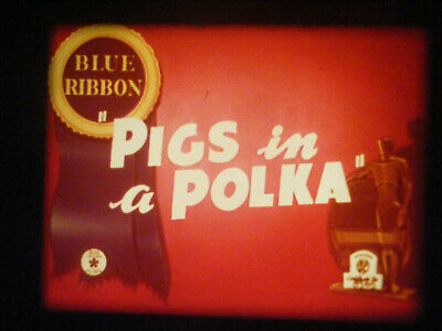 "16Mm Film-""pigs In A Polka""-1942 Merrie Melodies Cartoon"