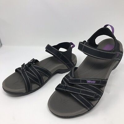 8e7d94fd14af Teva Womens Size 9 Black Purple Ankle Strap Water Sports Sandals Tirra 4266
