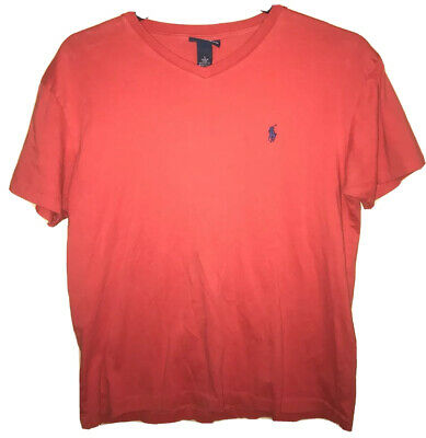 Polo Ralph Lauren Men's Tshirt Red Size Small S Navy Blue Pony Logo