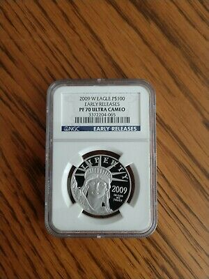 2009 W 1 oz $100 Platinum American Eagle Proof Coin NGC PF 70 Early Release