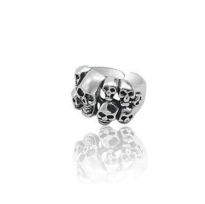 Gothic Many Skull Head Vintage Jewelry Men Women Stainless Steel Punk Rock Ring