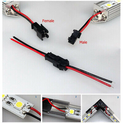 10Pairs 2PIN 3528 5050 LED Strip Lights Male and Female Connector Wire Cable