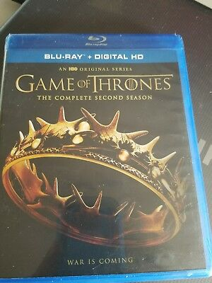 Game of Thrones: The Complete Second Season (Blu-ray Disc, 2017, 5-Disc Set)