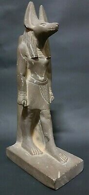 ANCIENT EGYPTIAN ANTIQUES Rare Egypt Statue Of God ANUBIS Bazalt Black Stone BC