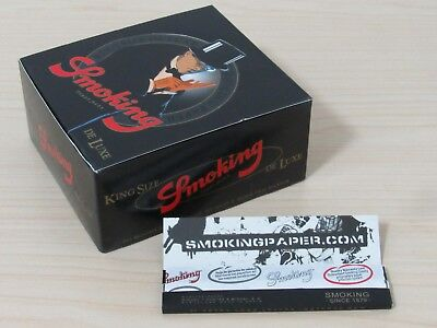 1 Box Black Smoking 110mm King Size Ultrathin Rolling Papers