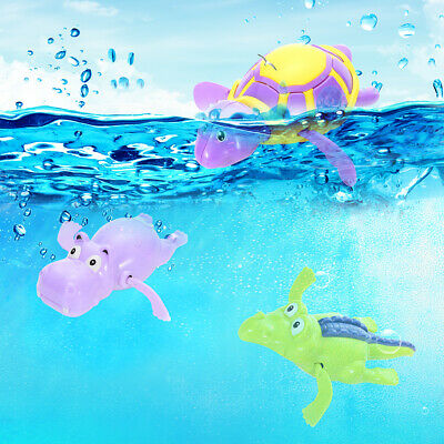 Baby Bath Pool Swimming Turtle Animal Toy Winding Wind-up For Children Kids UK