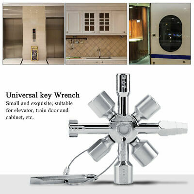 10 in1 Multifunction Electrician Plumber Cross Switch Key Wrench Square Triangle