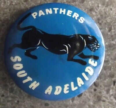 E3406)     Vintage South Adelaide (Sanfl)  Panthers Tin Badge/button