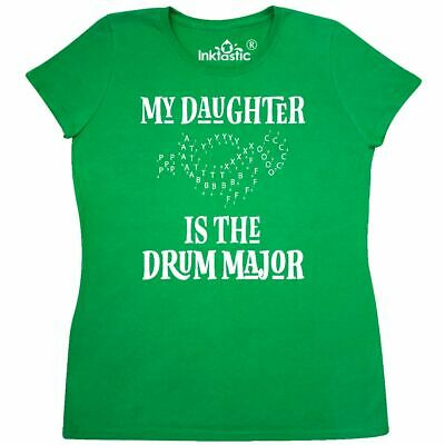 07a93674 Inktastic Drum Major Daughter Marching Band Mom Women's T-Shirt Music Dad  Gift