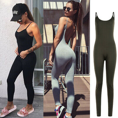 bffa876a9d8 Women s Athletic Rompers Sports YOGA Workout Gym Fitness Leggings Pants  Jumpsuit