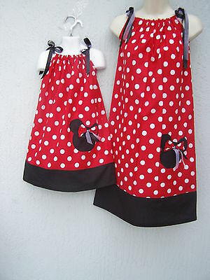 Pillowcase Minnie Mouse Mother /& Daughter Dress ANY SIZE 4-12 Yrs Handmade