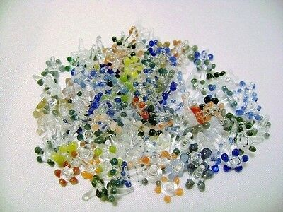 (200) Prem Multicolor assorted Flower Glass Daisy Style Pipe Screens Lot Of 200